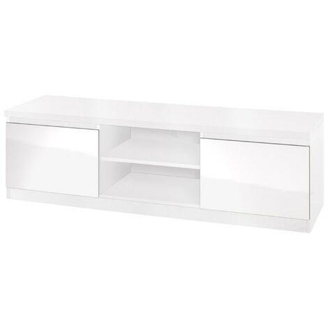 meuble tv fabio coloris blanc brillant meuble design pour votre salle a manger blanc