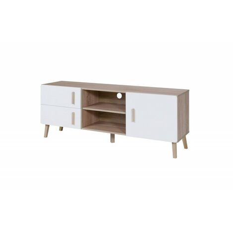 meuble tv oslo meuble design type scandinave effet ultra tendance pour votre salon blanc