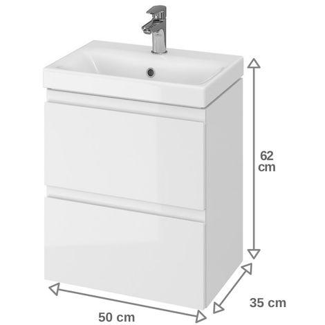 meuble de salle de bain 50x35 cm faible profondeur blanc