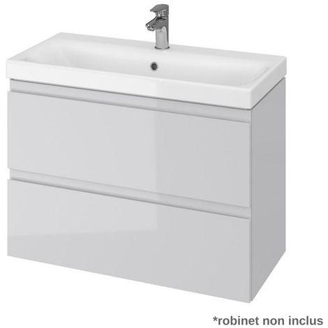 Meuble De Salle De Bain 50x35 Cm Faible Profondeur Blanc 622037
