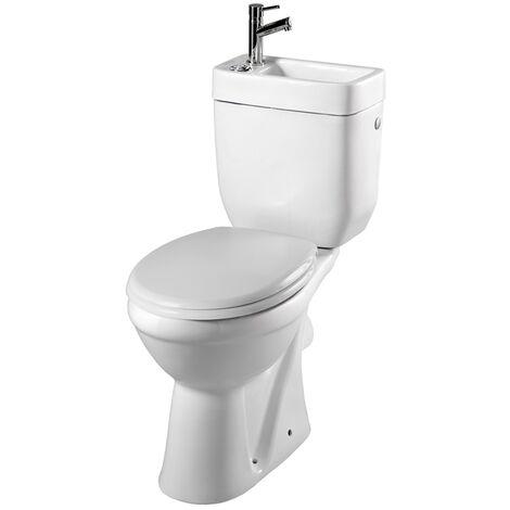 pack wc sureleve sortie horizontale avec lave mains integre