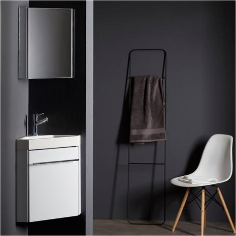 lave mains d angle complet pour wc avec meuble design blanc