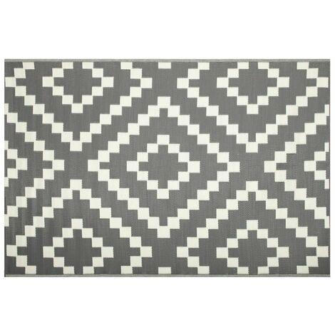 tapis d exterieur eco 270x180 cm damier gris