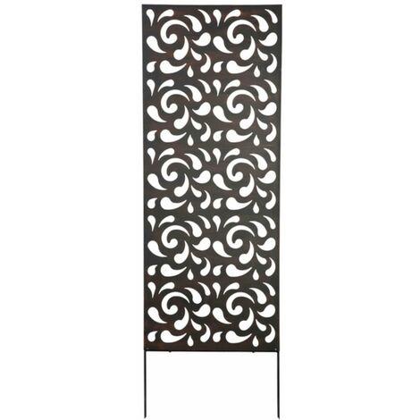 panneau metal avec motifs decoratifs gouttes 0 60 x 1 50 m brun