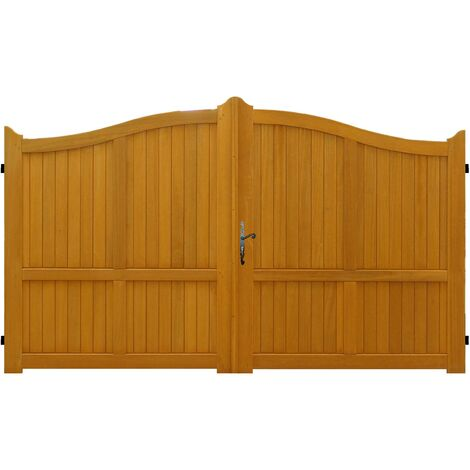 promo portail en bois exotique plein largeur 3 m hauteur 1 60 1 80 envoye depuis la france