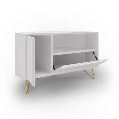 eloise meuble tv d angle blanc design