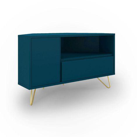 eloise meuble tv d angle bleu canard design