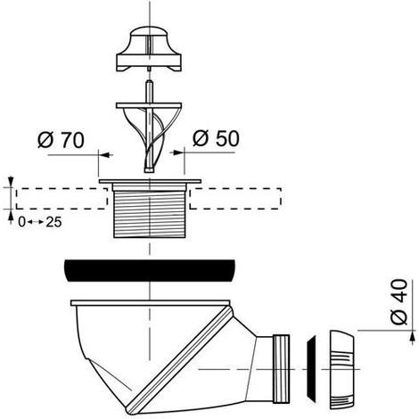 https www manomano fr p siphon de douche diametre 50 mm avec capot chrome james blister 2960819