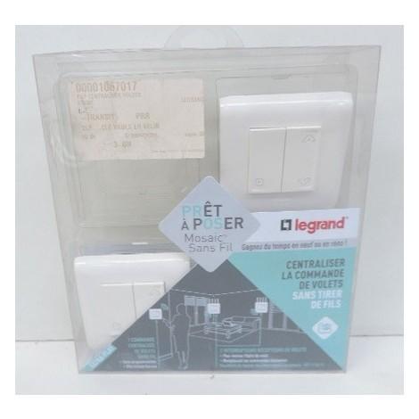 Kit Centralisation Pour 1 Volet Roulant Avec 1 Commande Sans Fil Et 1 Inter 230v Complet Mosaic Blanc Pap Legrand 074691