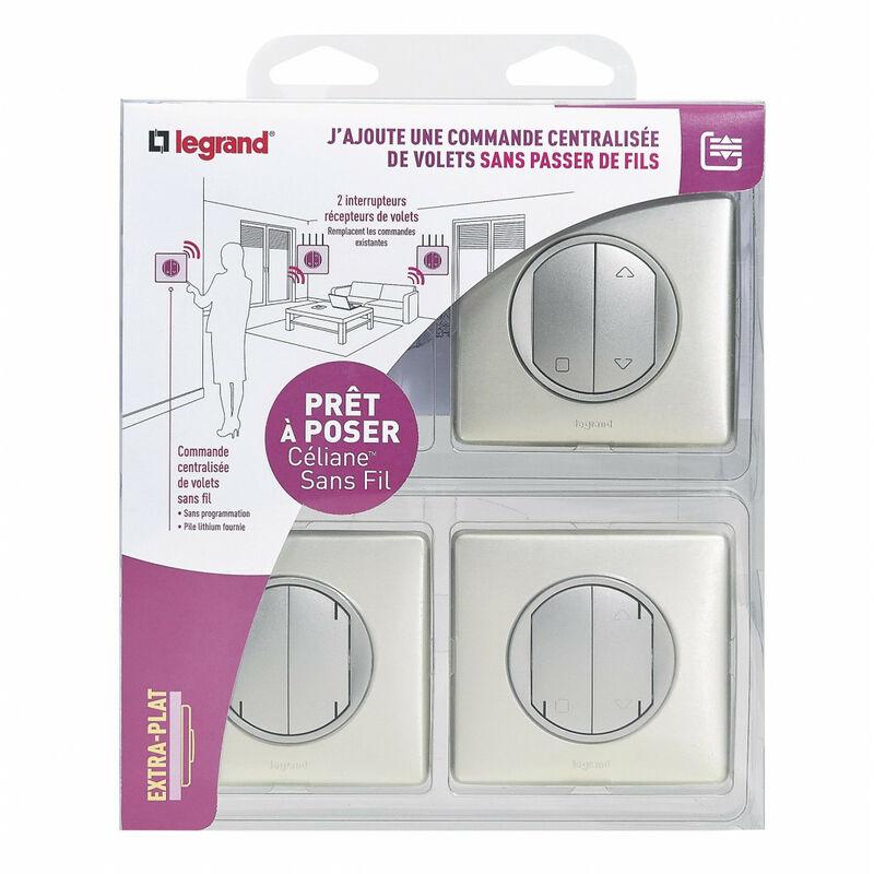 Kit Pret A Poser Sans Fil Centralisation Volets Roulants Celiane Titane Legrand Leg200867