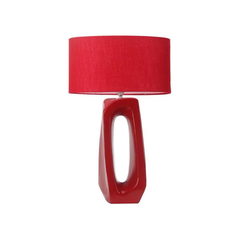 lampe a poser rouge design eclairage de chambre chevet salon led
