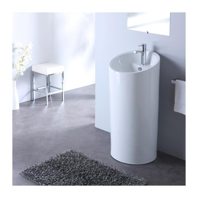 Lavabo Sur Pied Cylindre Blanc 133001