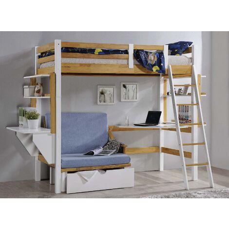 lit mezzanine avec bureau a prix mini