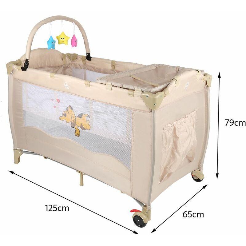 lit parapluie lit bebe pliant lit de voyage pas cheres a roulettes avec plan a langer jouet