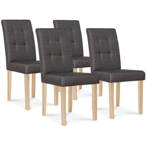 lot de 4 chaises polga capitonnees gris