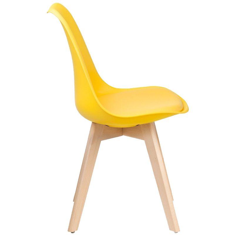 lot de 4 chaises scandinaves jaune skagen jaune