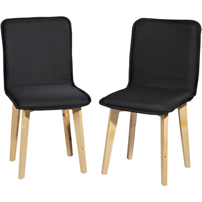 lot de deux chaise a manger chaise de cuisine noir fauteuil a haut dossier