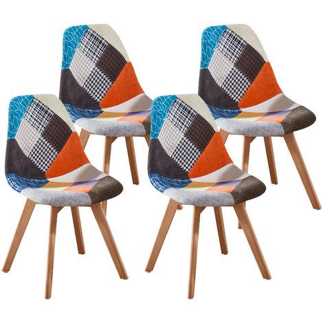 chaise scandinave patchwork a prix mini
