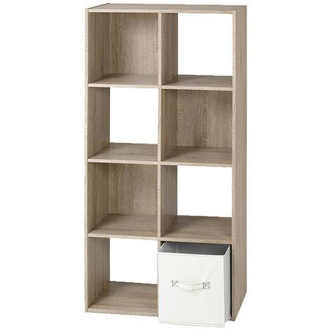 etagere rangement avec 8 cases calicosy bois clair