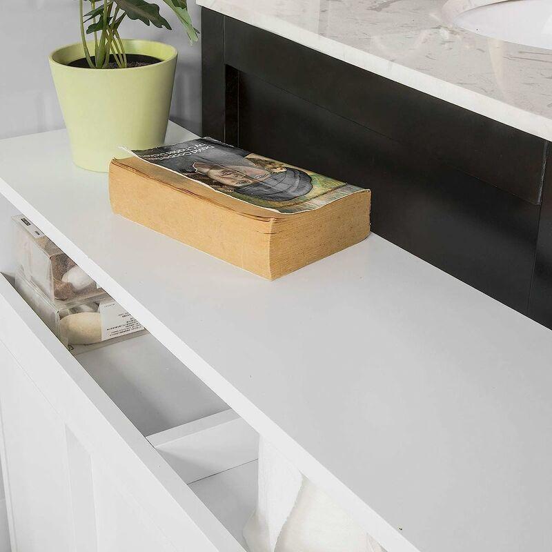 meuble de rangement salle de bain armoire wc meuble wc pour papier toilette porte brosse wc bzr02 w sobuy