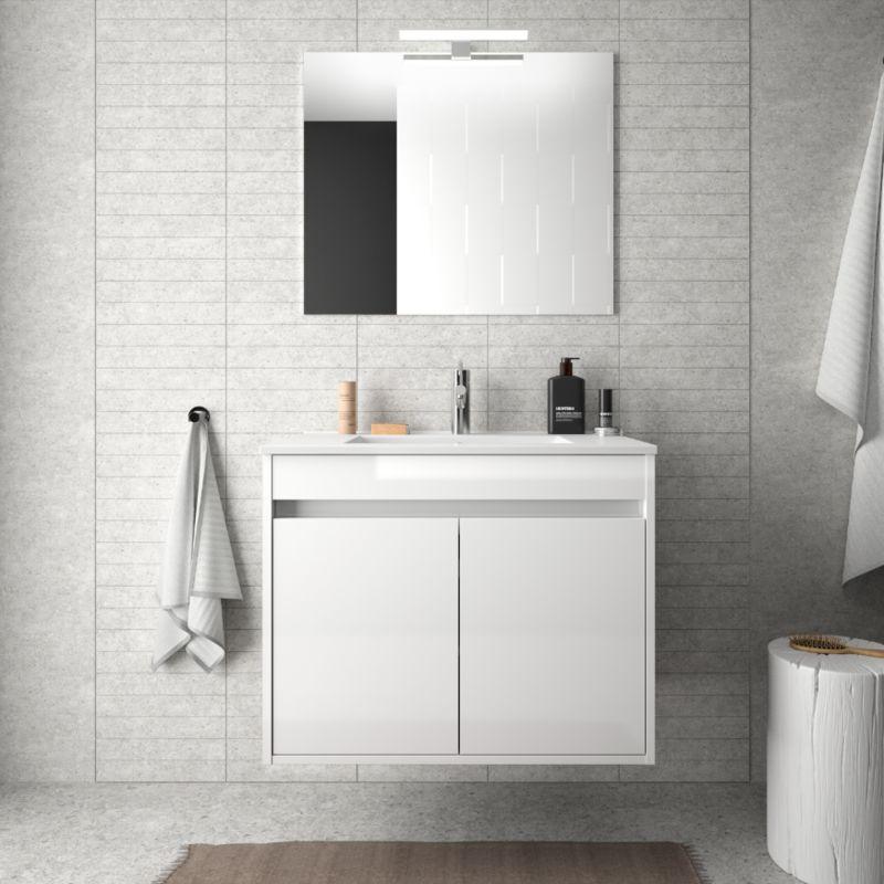 meuble de salle de bain suspendu 70 cm