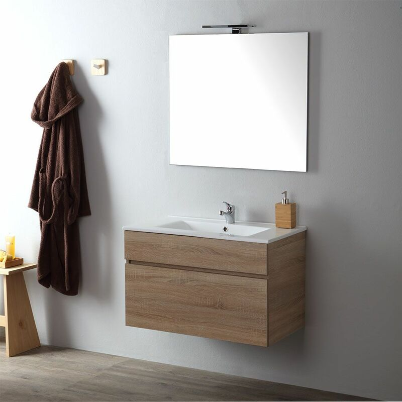 meuble de salle de bain suspendu 80 cm