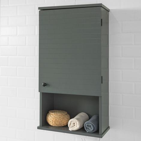 Meuble Haut Armoire Suspendue De Toilettes Placard Mural Avec Porte Pour Salle De Bain Armoire A