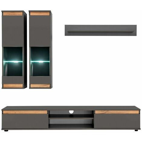meuble tv gris anthracite a prix mini