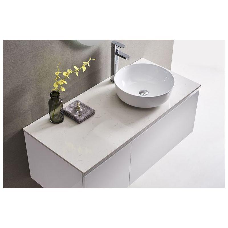 Meuble Salle De Bain Simple Vasque 120 Cm Ino Blanc 3700265504639