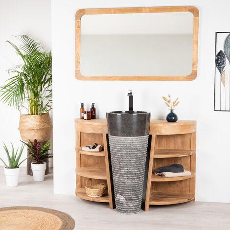 meuble vasque teck a prix mini