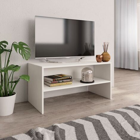 support tv blanc a prix mini