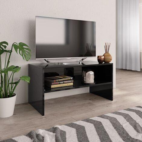 meuble tv noir a prix mini
