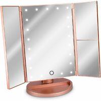 Miroir Cosmetique Led Miroir Sur Pied Pliable Miroir De Maquillage Eclaire Miroir De Maquillage 2 Fois 3 Fois Miroir Grossissant En Or Rose Mm000948