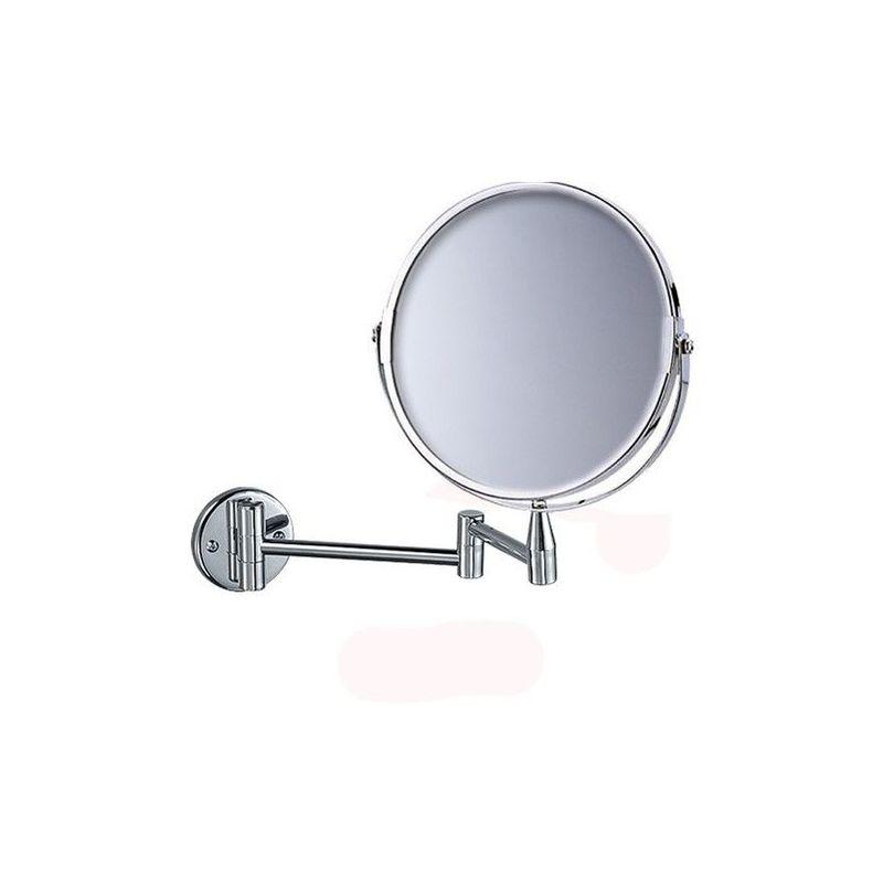 Miroir Grossissant X5 Mural Rond Diametre 17 Cm Chrome 3283420560089