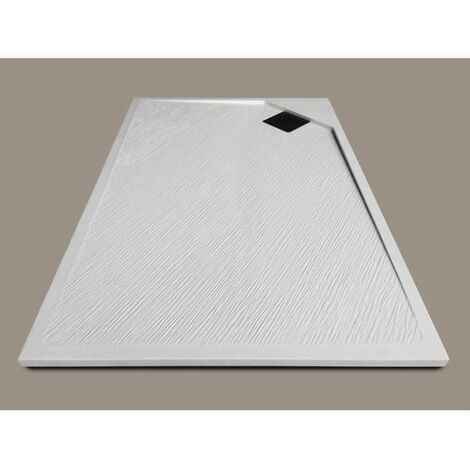mitola receveur de douche rectangulaire a poser oasis 120 x 80 cm resine composite blanc