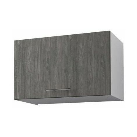 obi meuble haut de cuisine l 60 cm decor teck marine et blanc