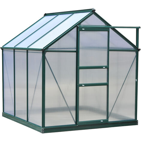 Outsunny Clear Polycarbonate Greenhouse Large w/ Slide Door