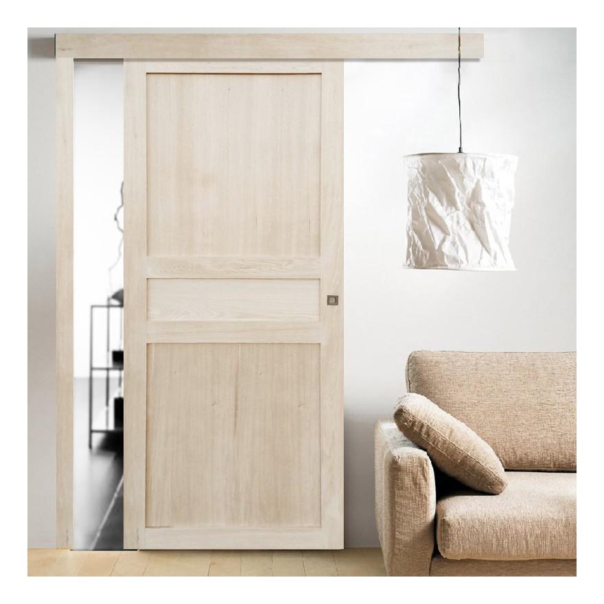 porte bois porte en bois brut coulissante