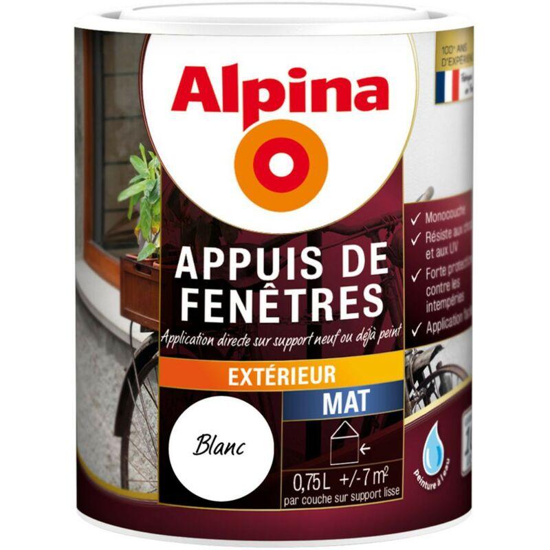 Peinture Alpina Appuis De Fenetres 0 75l Couleur Blanc 5250cd0080bl