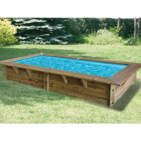 piscine bois azura 3 50 x 2 00 x 0 71 m liner bleu avec filtre a cartouche ubbink