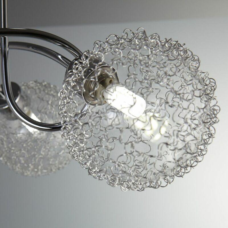 plafonnier led chrome led spots plafond a c clairage moderne luminaire salon design orientable 2 spots g9