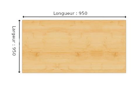 planche en melamine noir epais 19 mm