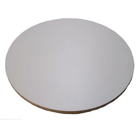 planche ronde en melamine blanc epais 19 mm