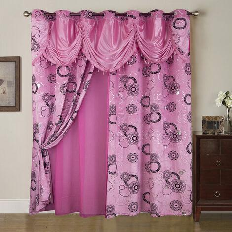 rideau voilage rose a prix mini