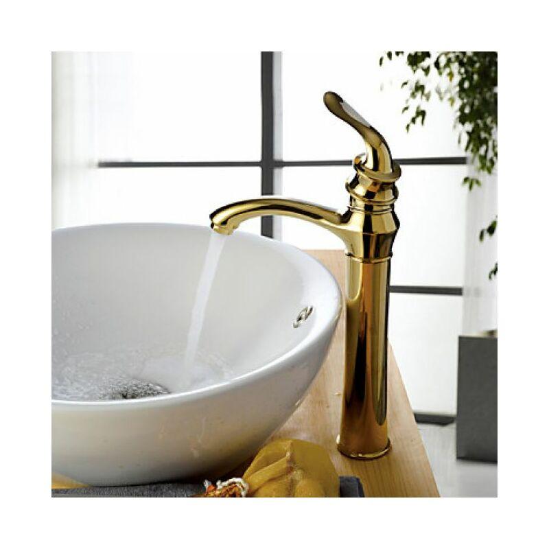Robinet Salle De Bain Doree Au Ligne Fine Et Elegante Design Contemporain 6110541773500