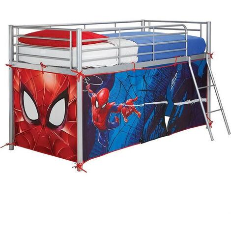 spiderman tente pour lit enfant sureleve