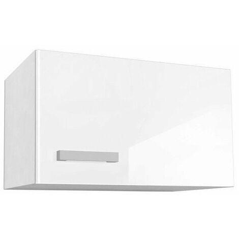 start caisson haut de cuisine sur hotte l 60 cm blanc brillant