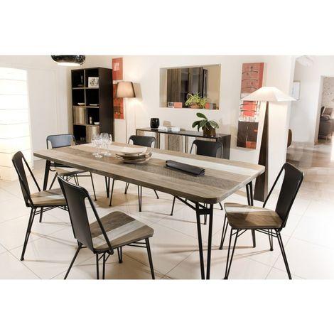 table a manger bois et metal a prix mini