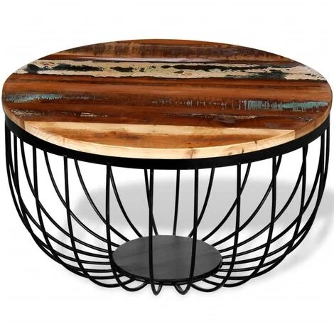 table basse bois et fer a prix mini