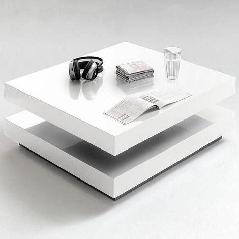 table basse blanc laque a prix mini